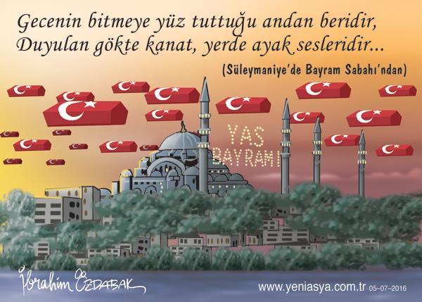 Ramazan bayramınızı tebrik eder, İslam dünyasına kardeşlik, barış, ve huzur getirmesini Cenab-ı Hakk'dan niyaz ederim