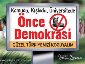 Önce demokrasi
