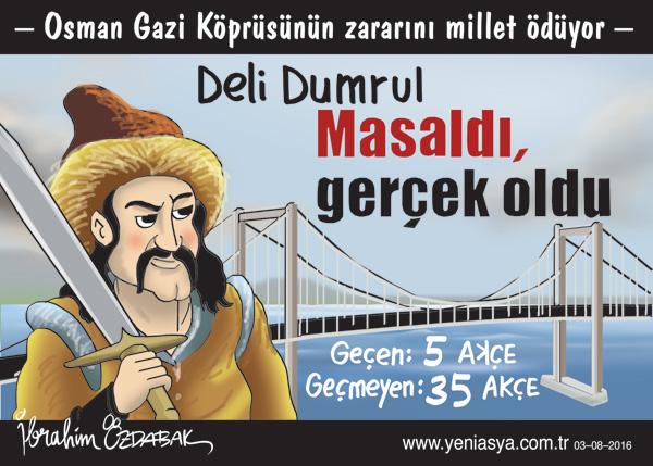 Osman Gazi Köprüsünde 40 bin beklenen günlük geçiş 5 binlerde