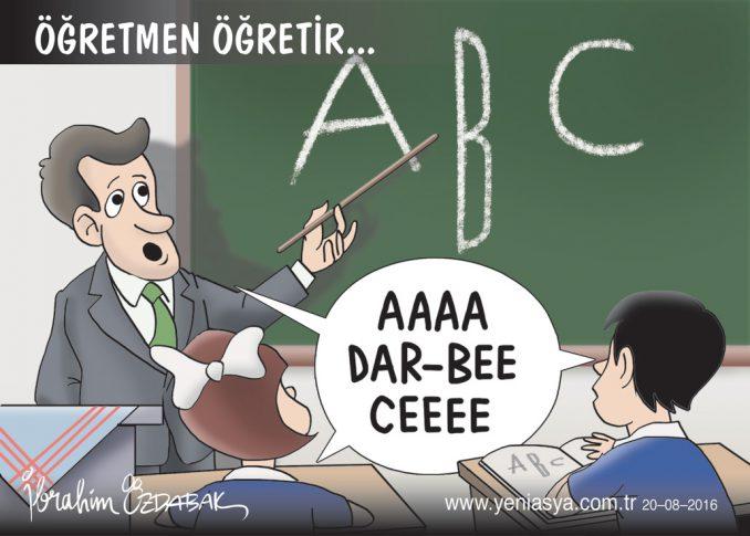 Öğretmen öğretir A, dar B, C