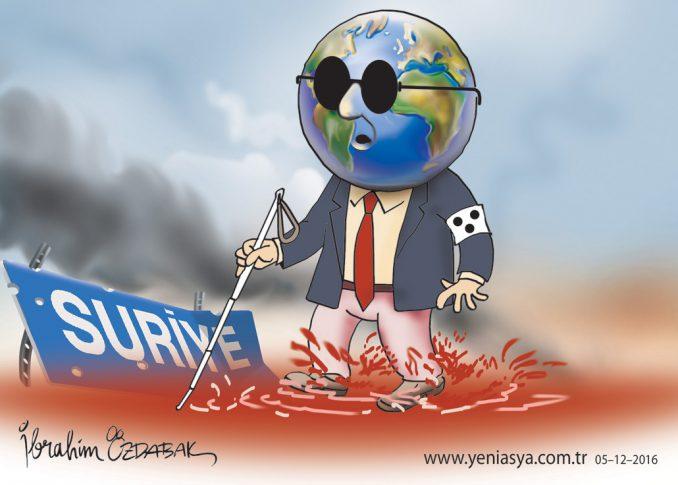 Katliamları görmeyen dünya